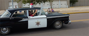 police car with shriner