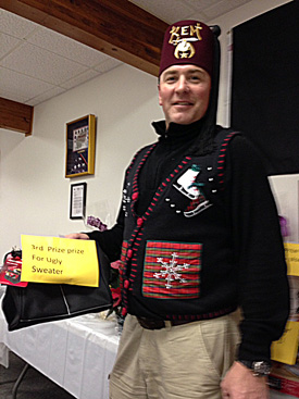 Shriner in ugly sweater